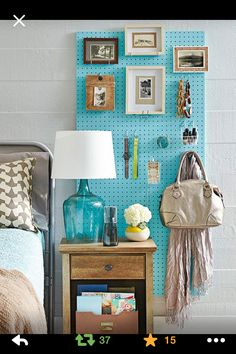 Storage next to bed Source ; better homes & gardens via Twitter