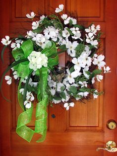 Spring summer Wreaths white Wreath Dogwood by Southernbornnblessed