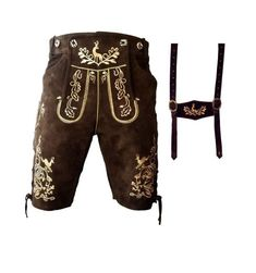 Grab the contemporary designed best Oktoberfest outfit- lederhosen Mens Lederhosen, Leather Fabric, Suede Leather, Ibiza Party, Oktoberfest Costume, German Outfit, Dark Brown Color, Costume Shop