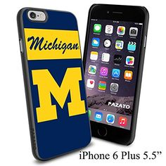 """NCAA M MICHIGAN , Cool iPhone 6 Plus (6+ , 5.5"""") Smartphone Case Cover Collector iphone TPU Rubber Case Black Phoneaholic http://www.amazon.com/dp/B00VVKKHH4/ref=cm_sw_r_pi_dp_DZFnvb1RTRV28"""