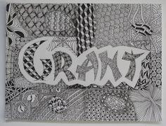 Zentangle Nameplate Grant
