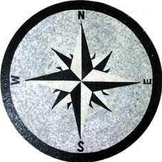 Floor Compass Wall Round Medallion Decor Marble Mosaic MD996