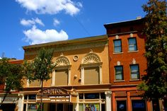 Buildings in downtown Macon, Georgia on a sunny day