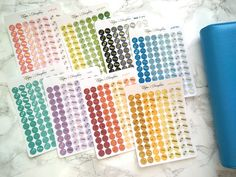 Tiny foiled candy icons planner stickers for Erin Condren