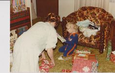 #TBT Christmas - that decor tho! Who had furniture and carpet like this growing up!? Which Crafty Carrot designer could this be?