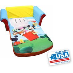 Marshmallow Furniture 2 In 1 Flip Open Sofa, Mickey Mouse Club House Mickey