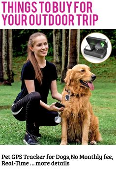 (This is an affiliate pin) Pet GPS Tracker for Dogs,No Monthly fee, Real-Time Tracking Device App controll(Only for Dog)