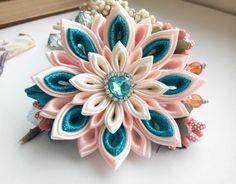 Kanzashi flower/Kanzashi hair barrette/Kanzashi french barrette/Kanzashi hair flowers/Girl hair accessories