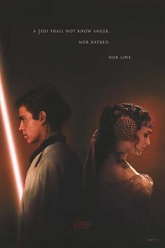 "A few years later, the teaser poster for ""Star Wars Episode II: Attack of the Clones"" was released revealing an older Anakin Skywalker. The poster also teased to conflict as it read ""A Jedi shall not know anger. Nor hatred. Star Wars Film, Star Wars Watch, Star Wars Art, Star Wars Episode 2, Anakin Vader, Anakin Skywalker, Darth Vader, Charlie Chaplin, Anikan And Padme"