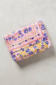 Printed Paisley Clutch leather pink $59.95 + extra 25% off ($98) | Anthropologie