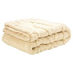 Cream Cable Knit Throw (For Master Bedroom)