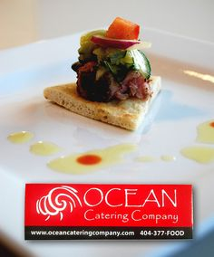 Ocean catering company sticker
