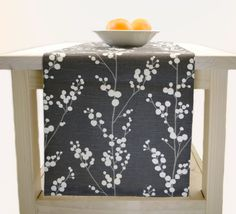 High Quality Grey Table Runner, Fall Table Runner, Thanksgiving Grey Table Runner Grey  60 Inch,