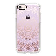 BOHOCHIC MANDALA IN PASTEL PURPLE - CRYSTAL CLEAR PHONE CASE - iPhone... (228240 PYG) ❤ liked on Polyvore featuring accessories, tech accessories, iphone case, iphone hard case, clear iphone cases, iphone cover case, iphone cases and apple iphone case