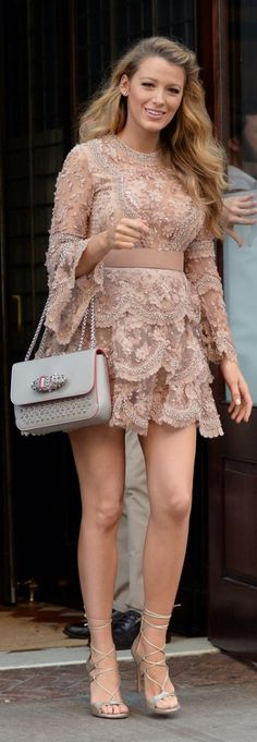 Blake Lively: Dress – Elie Saab  Purse – Christian Louboutin  Shoes – Stuart Weitzman