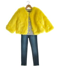 Fred bare yellow  Fur Jacket