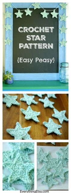 Twinkle, twinkle little star… Looking for a simple crochet project to make today?  This free crochet star pattern is just what you need! Small projects are a great way to use up some of your pretty y