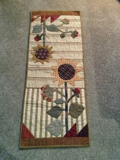 Sunflower table runner, done by Timeless Traditions