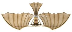 Da Vinci Ornithopter Flying Machine Stock Illustration - Illustration of flight, greco: 21903938 Machine Image, Machine Photo, Da Vinci Inventions, Machine Volante, 3 D, Paper Aircraft, Steampunk Airship, Bird Wings, Model Airplanes