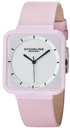 Stuhrling Original Women's 438.12OOA2 Leisure Ceramic Carnivale Swiss Quartz Ultra Slim Pink Ceramic Case Watch