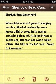 Sherlock Head Canon #41 Accepted.
