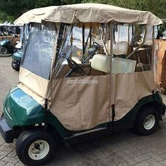 Golf Clubs - Asatr Driving Enclosure Golf Cart Cover Electric Travel Club Car Covers for 2 Passenger 2 Seater Golf Cart Covers, Car Covers, Oxford Fabric, Equipment For Sale, Golf Carts, Rain, Club, Travel, Awesome