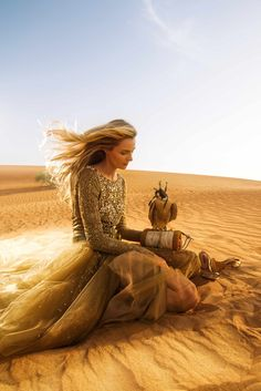 The beaded Ralph Lauren Collection Spring 2015 gown photographed in Azerbaijan for Nargis Magazine