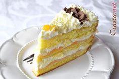 przepis na tort brzoskwiniowy