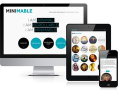 Minimable - Free Responsive Wordpress Theme - really cool one-page website with jQuery effects.