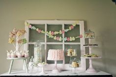 Cute Easter dessert table