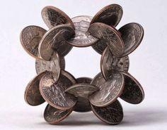 Amazing Interlocking Coin Sculptures