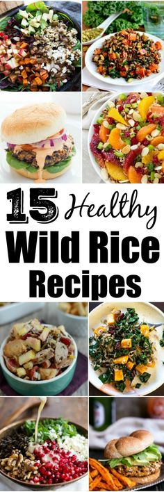 Looking for Healthy Wild Rice Recipes? Here are 15 protein-packed ways to use wild rice in dinner and side dish recipes! Wild Rice Recipes, Whole Food Recipes, Cooking Recipes, Good Healthy Recipes, Healthy Snacks, Healthy Eating, Healthy Sides, Healthy Choices, Delicious Recipes