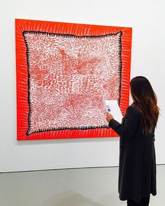 """Meditation"" 2008 by Yayoi Kusama (87). Acrylic on canvas @davidzwirner #nyc. A painting by Kusama should be in every contemporary art collection. She is one of those artist that shows up to teach humanity, and once they leave us, no one can replace them @davidzwirner -------------------------------------------------#japaneseart #contemporaryart #selectingart #artadvisory #researching #artcollection #artcollector #nyc"