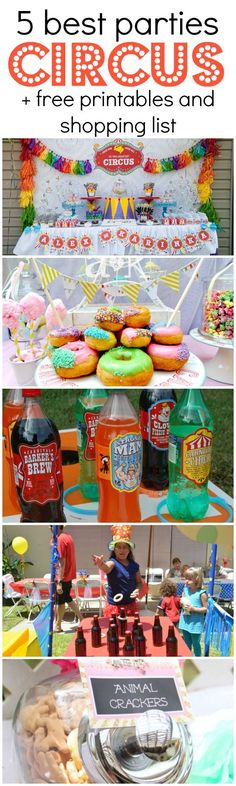 5 Best Circus Parties + Free Printables & a Shopping List