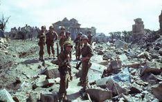 The ruins of Normandy, American Troops, northwestern France, summer Frank Scherschel. Military Units, Military History, Military Uniforms, D Day Invasion, Normandy Invasion, Life Pictures, South Pacific, Life Magazine, Us Army