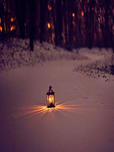 Lantern light in winter Winter Szenen, I Love Winter, Winter Magic, Winter Christmas, Winter Walk, Winter Wonderland, I Love Snow, Winter's Tale, Snow Scenes