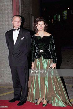 King Carl Gustaf And Queen Silvia Of Sweden Arriving For 'the Royal Gala' At The Royal Festival Hall In London To Celebrate The British Monarch's Golden Wedding Anniversary Get premium, high resolution news photos at Getty Images Queen Of Sweden, Festival Hall, Swedish Royalty, Golden Wedding Anniversary, Queen Silvia, Danish Royals, Victoria, Ball Gowns, Evening Dresses