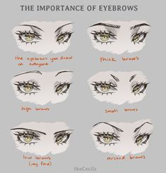 """As a side note, the eyebrows fix to same-face-syndrome works on manga eyes too. Art Poses, Drawing Poses, Drawing Tips, Eye Drawing Tutorials, Art Tutorials, Body Reference Drawing, Art Reference Poses, Realistic Eye Drawing, Digital Painting Tutorials"