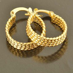 Brilliant 9k Gold Filled Hoop Earrings for women