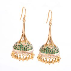 Moghul inspired Jhumki's with Diamonds
