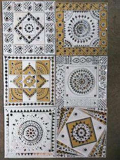 Clay Wall Art, Mural Wall Art, Mural Painting, Clay Art, Mirror Canvas, Diy Canvas Art, Mirror Art, Tanjore Painting, Madhubani Art