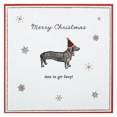 Buy Alice Scott Dog Christmas Card Online at johnlewis.com