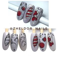 Regran_ed from zheldor_nails ? Christmas Gel Nails, Xmas Nail Art, Holiday Nail Art, Christmas Nail Art Designs, Winter Nail Art, Winter Nail Designs, Winter Nails, Nail Noel, Tree Nails
