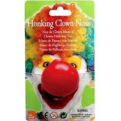 Red honking clown nose on #elastic - noisy joke prank circus fancy #dress #costum,  View more on the LINK: http://www.zeppy.io/product/gb/2/131974891967/