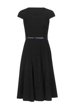 Black fit n flare dress-long tall sally