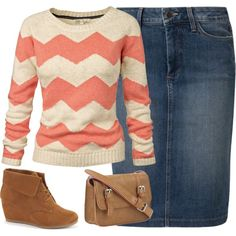 """Coral Chevron"" I would pick a different shoe to go with it though"