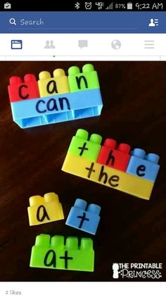 Legos can give so many teaching opportunities! Here's an activity for teaching sight words with Legos! Literacy Activities, Educational Activities, Spelling Activities, Learning Activities For Toddlers, Spelling Ideas, Sight Word Activities, Toddler Educational Games, Activities For 4 Year Olds, Spelling Games For Kids