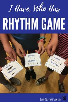 """Music teachers, this fun """"I have who has"""" rhythm game will get your children or teens up, moving & having fun! This music game is perfect for middle school or elementary music classrooms, and you will love teaching rhythm with these fun activities for ki Music Theory Games, Music Education Games, Rhythm Games, Music Activities, Music Games, Physical Education, Abc Games, Music Music, Health Education"""