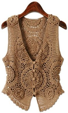 Sucateando: Belíssimo Colete em croche  I SO LOVE VESTS, THIS IS GORGEOUS
