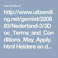 http://www.uitzending.net/gemist/220883/Nederland-3/3Doc_Terms_and_Conditions_May_Apply.html Heldere en duidelijke uitleg over gebruikersvoorwaarden waarmee je links en recht in de digitale wereld moet instemmen wil je iets gebruiken. Waar stem je eigenlijk mee in?